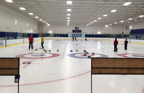 curling at Richfield open house